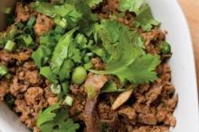 ลาบคั่วเมืองเหนือ สูตรไขมันต่ำ 226 kcal
