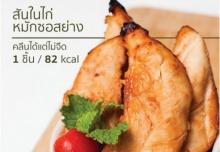 สันในไก่หมักซอสย่าง 1 ชิ้น 82 kcal