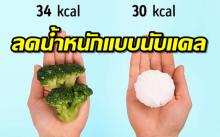 การลดความอ้วนแบบนับแคลอรี่ ที่กินเข้าไปแล้วใช้ออก (คลิป)