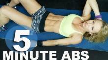 สร้างซิกแพค 5 นาทีด้วย Abs Workout