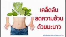 ลดความอ้วนด้วยมะนาว