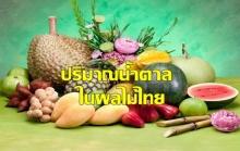 ปริมาณน้ำตาลในผลไม้ไทย รู้ไว้ไม่อ้วน