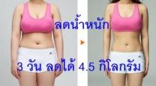 ลองเลย!!! สูตรลดน้ำหนักเร่งด่วน 3 วัน ลดได้ 4.5 กิโลกรัม